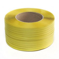 Yellow And White And Blue Colored Strapping Patti Roll