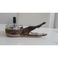 ashtray crocodile head