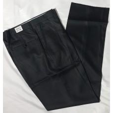 Trousers cotton shiny black color